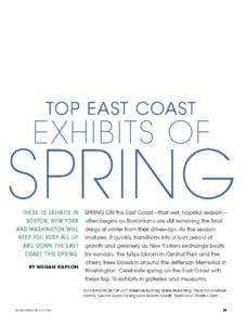 Art Business News Spring 2015 | Spring Exhibits 2_Page_1